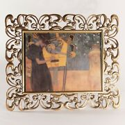 An Extraordinary Large Arts And Crafts Antique Brass Picture Or Photo Frame