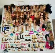 Bratz Doll Huge Lot Of 31 Dolls, Lots Of Clothes Shoes And Accessories 2001