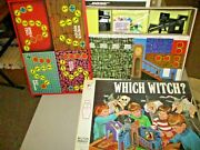 Rare 1971 Milton Bradley Which Witch Monster Board Game Sealed Contents 100