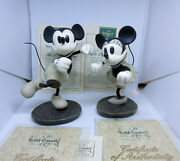 1995 Disney's Mickey Mouse And Minnie Mouse The Delivery Boy Jazz Figurines Coas