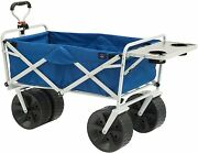 Mac Sports Heavy Duty Collapsible Folding All Terrain Utility Wagon Cart With Si