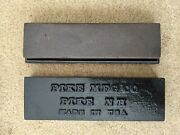 Vintage Pike Mfg Co Nh Manufacturing Oil Sharpening Stone Cast Iron Case Usa