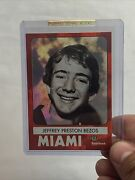 Jeff Bezos Andldquoemployee Of The Month G.a.s. Trading Card Ntwrk Hot Fry Oil /10