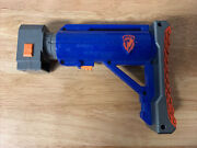 Nerf Raider N-strike Cs-6, Used Blue Shoulder Stock Tactical, Collapsible Stock