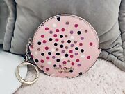 Nwt Kate Spade Cindy Zip Coin Purse Festive Confetti Glitter Dot With Key Ring