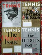 Lot Of 4 Tennis Magazine The Heroes Issue 2013 2014 2015 2018 Arthur Ashe And More