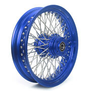 16 Andtimes 3.5 72 Aluminum Blue Spokes Rear Wheel For Dyna Fxdl Softail Heritage