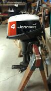 1979 Johnson Seahorse 4hp Outboard 2 Stroke Engine. Has Been Kept Indoors