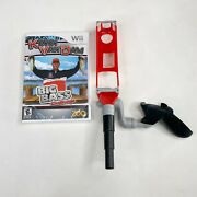 New Nintendo Wii Kevin Vandam Big Bass Challenge And Fishing Rod Pole Controller
