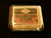 Vintage Style Austin Powder Company Blasting Caps Glass Paperweight...by Artist
