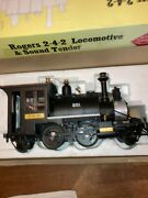 Aristocraft G Scale Rogers 2-4-2 Pennsylvania Black Loco 210 And Tender Sound Ob