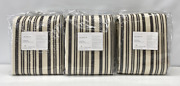 New Pottery Barn Antique Stripe Print 50 X 96 Blackout Curtainsset Of 3gray