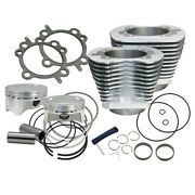 Sands Cycle - 4 Sidewinder Big Bore Kit For 1999-2006 Hd Big Twin Models - Silver