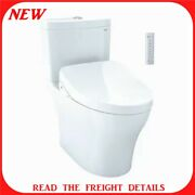 Toto Aquia Dual Flush Two Piece Elongated Chair Height Toilet With Bidet