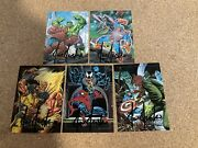 1992 Marvel Masterpieces. Complete Spectra 5 Card Set All Signed By Joe Jusko