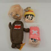 Japanese Plush Toy Lot Chopper Luffy Domo Cell Phone Pencil Cases New Lot Of 4