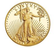 In Hand 2021-w 1/2 American Eagle One-half Ounce Gold Proof Coin 21ecn Type 2