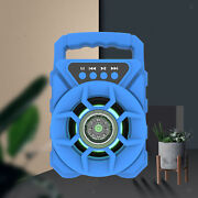 Portable Disco Bluetooth Speaker Rechargeable For Teaching Powerful Blue