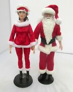 1 Mr And Mrs Santa Claus Barbie Doll Ooak Susan B Anthony Christmas Holiday Decor