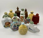 Set Of 13 Vintage Chinese And Japanese Snuff Bottles - Amazing Collection