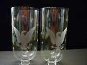 Tall Cut And Etched Glass American Eagle Hurricane Lamp Chimney Shade Pair