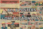 Mighty Mustang 1967 Race Hemi- Car = 6 Posters Comic Book 10 Sizes 17 - 3 Feet
