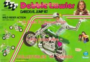 Debbie Lawler 1975 Daredevil Motorcycle Knievel -ish =poster 10 Sizes 18-5.5 Ft
