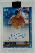 Kyle Tucker Signed 2019 Topps Clearly Authentic Blue Refractor Astros Auto /25