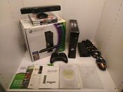 Microsoft Xbox 360 Slim S 250gb Kinect In Box 3 Games Controller Tested Working
