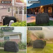 170cm Waterproof Bbq Covers Heavy Duty Barbecue Smoker Grill Protectors Black