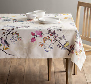 Cotton Table Cloth Kitchen Dining Tabletop Party Decoration Rectangle 60 X 90 In