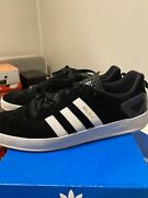 Adidas Palace Pro Black White Skateboard Skate 8.5 Excellent Condition Fast Ship