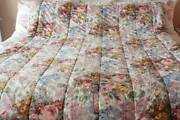 Shabby Cottage Chic Allison Twin Comforter Cotton Cabbage Roses
