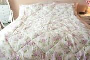 Laura Ashley Lidia Twin Shabby Cottage Chic Comforter Lavender And White Roses