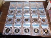 Pcgs Proof 69dcam-freshly Graded Free Sandh-20 Coin Lot-coins Shown-box6-f7/30f