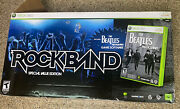 Xbox 360 Beatles Rock Band Special Value Edition Guitar Drums Game And Mic