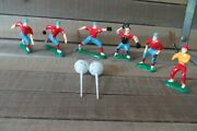 8 Pc. Vintage Baseball Team/players Plastic Cake Toppers