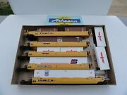 Athearn 5911 Ho Scale Gunderson Maxi Iii W/containers Knuckle Couplers Ec B34