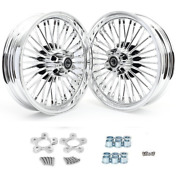 16x3.5 Fat Spoke Wheels For Harley Touring Electra Glide Ultra Road King Classic