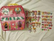 Lalaloopsy House Carrying Case Storage W/ 51 Mini Dolls Pets Playset