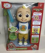 Cocomelon Deluxe Interactive Jj Doll Feed Dress Sing With Me Vegetables Song New