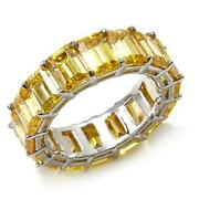 Hsn Jean Dousset Absolute Emerald Cut Sterling Eternity Ring Size 10 358