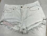 Free People Ob562992 Soft And Relaxed Cut Off Shorts In Worn White Size 30