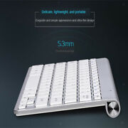 Slim Flat Quiet Wireless Keyboard And Portable Mouse Combo For Windows Pc Mac