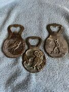 Vintage Neoclassical Greek Bottle Openers Collectible Bar Lot Of 3