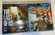 Sony Playstation 3 Ps3 - The Last Of Us And Bioshock Infinite - Free Shipping