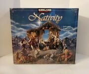 Kirkland Hand-painted Antique Style 10 Figures 19 Pc Nativity Set In Box 989999