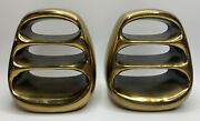 Vintage Mcm Ben Seibel Jenfred Ware Tall Ladder Brass Bookends 1950and039s Rare