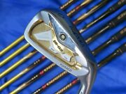 3star Gold Honma Beres Is-02 8pc R-flex Irons Set Golf Clubs Jp Limited Nwo