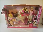 Barbie Jumping Tawny Horse And Doll L4395 2006 Rare